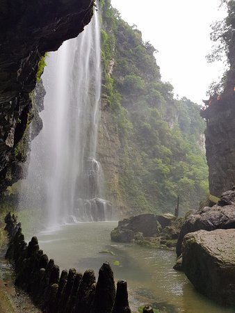 Yichang, China: Nice view from under the waterfall.