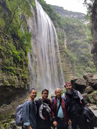 Yichang, China: Passed the waterfall.