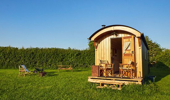Winford, UK: Shepherd's Huts at Walnut Tree Farm