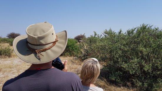 Ghanzi, Botswana: Walking Safari, Rhino Sichtung
