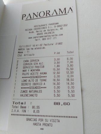ejemplo de factura picture of panorama valencia tripadvisor