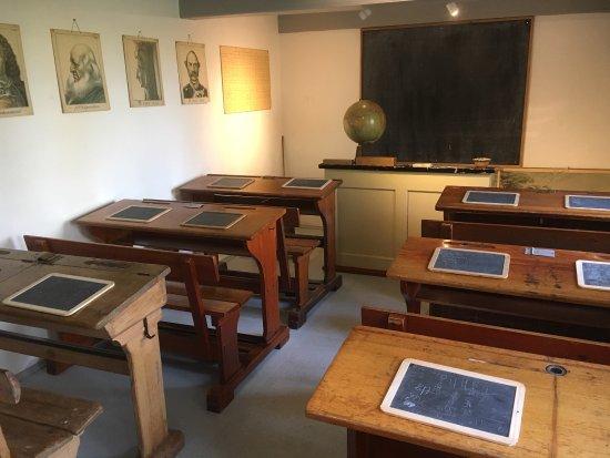 Greve, Denmark: View permanent exhibition, old school