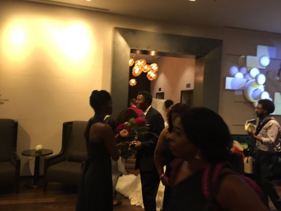 Lobby Wedding Reception Blocking Elevators Picture Of Jw Marriott