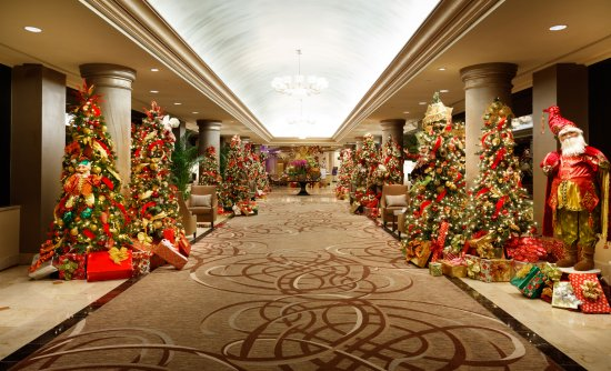 The San Luis Resort: Hotel Lobby with Christmas Decorations