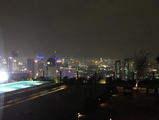 Window View Picture Of Sky Pool Bar Cafe Jakarta Tripadvisor