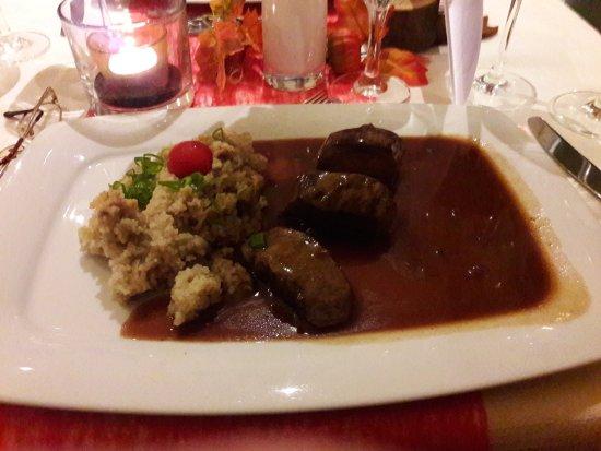 Goldbachel Restaurant & Cafe: Rehfilet mit Steinpilz/Graupen Risotto