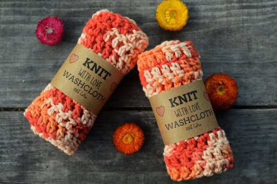 Positive Attraction Soaps: Hand knitted washcloths!