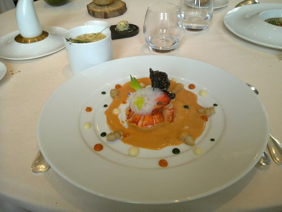 Chonas-l'Amballan, France: Le homard du vivier.