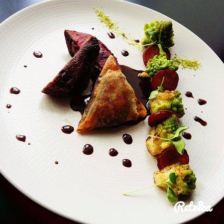 Cellettes, ฝรั่งเศส: Canard Colvert/choux romanesco/saucisse monbéliard