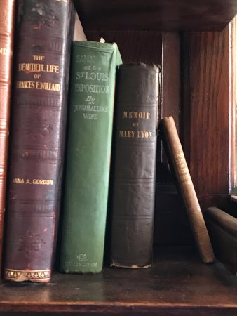 National Susan B. Anthony Museum & House: Memoir of Mary Lyon, 1837 founder of Mount Holyoke College, South Hadley, MA in Susan's library!
