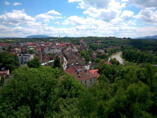 Cieszyn, Polen: Widok z Wieży Piastowskiej