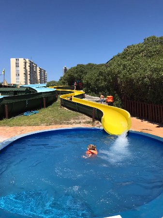 Strand, South Africa: The midi-slide...perfect for children under 10 yrs.  Great to boost confidence before the big sl