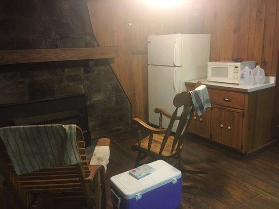 Linn Run State Park: Linn Run Cabin #9, Left Side From Door