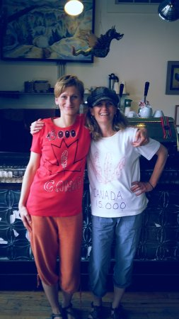 Bancroft, Canada: That's us! Magda and Marion.. proud to serve you best coffee in town!