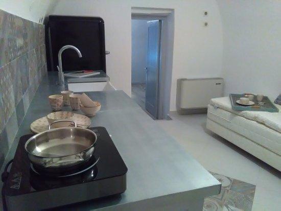 Αυγώνυμα, Ελλάδα: Cottage Spitaki 4 kitchen & sitting room