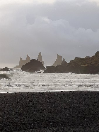 Black Sand Beach: The black and white world of Vik