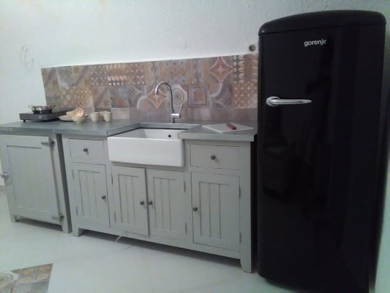 Avgonima, กรีซ: Cottage Spitaki 4 kitchen & sitting room