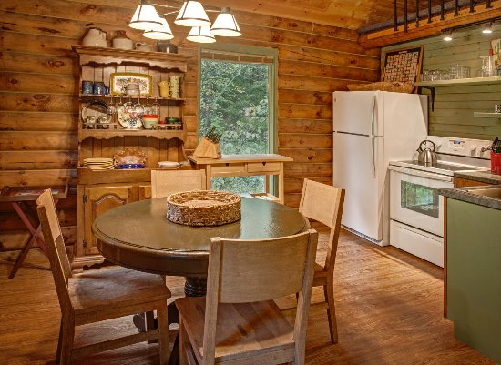 Log Cabin Kitchen - Picture of Candlewood Cabins, Richland ...