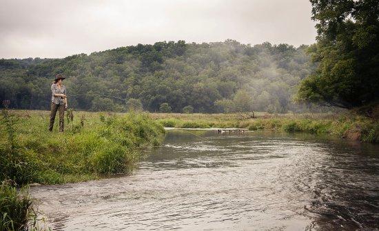 Richland Center, WI: Fishing Pine River