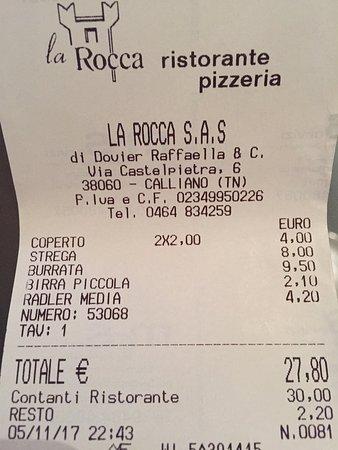 Calliano, Italia: cena in 2