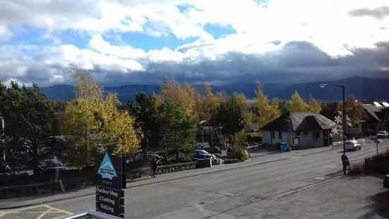 View from the Mountain Cafe to the Cairngorms