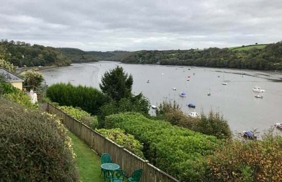 Golant, UK: River views from our balcony