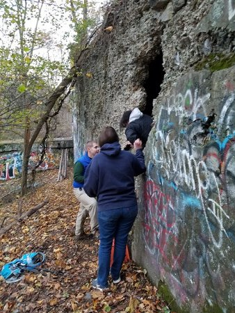 Nyack, NY: Exiting one of the tunnels.