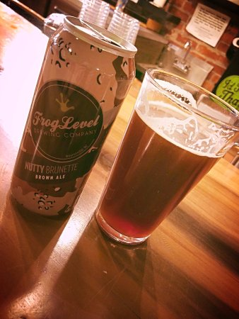 Frog Level Brewing: Brewed and canned at this location. Nutty Brunette Brown English Ale!
