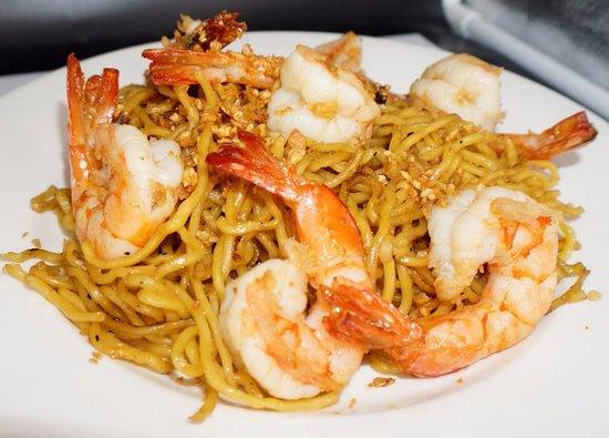 Morgan Hill, Californien: Shrimp Garlic Noodle