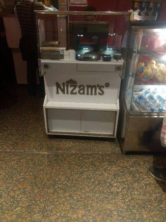 Billing Counter at Nizam's Kathi Kabab CP