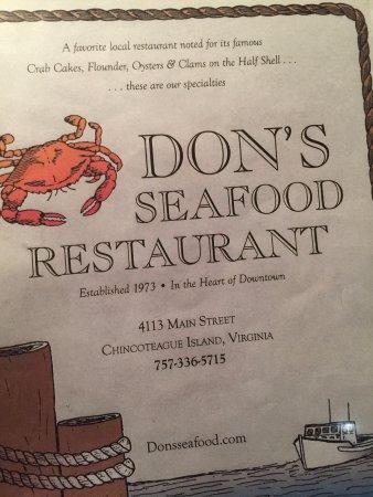 Don S Seafood Restaurant Chincoteague Island Va