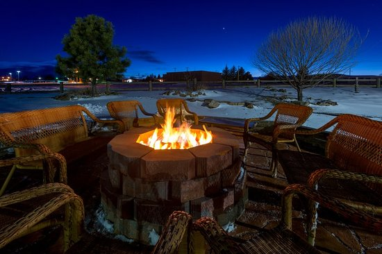 Enjoy the ambiance of our Raton NM patio and firepit