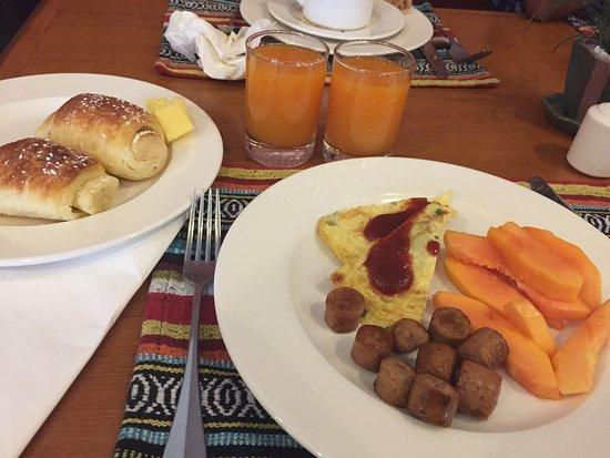 هوتل ياك آند يتي: Breakfast--my last meal in Nepal!