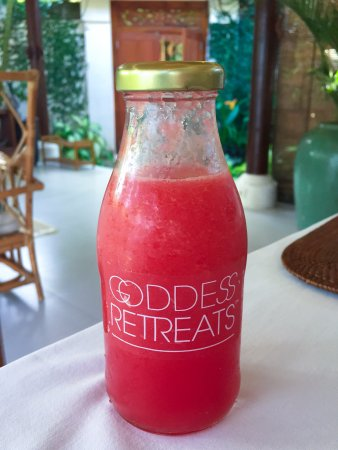 Goddess Retreats: Fresh Juices are made daily for our goddess guests