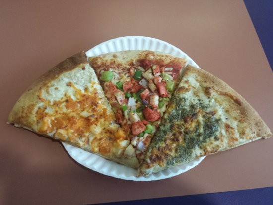 New Westminster, Canada: Butter Chicken, Tandoori Chicken and Pesto pizza pieces