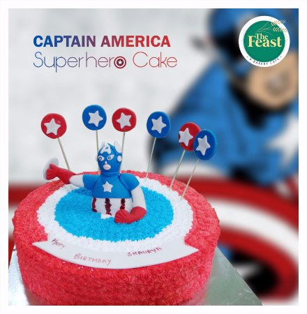 Awesome Captain America Theme Cake Picture Of The Feast Jaipur Funny Birthday Cards Online Elaedamsfinfo