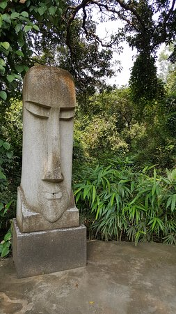 Statue Of Moai At Little Siolim