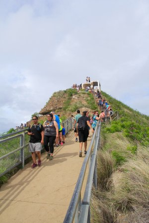 Diamond Head: The last climb to the summit