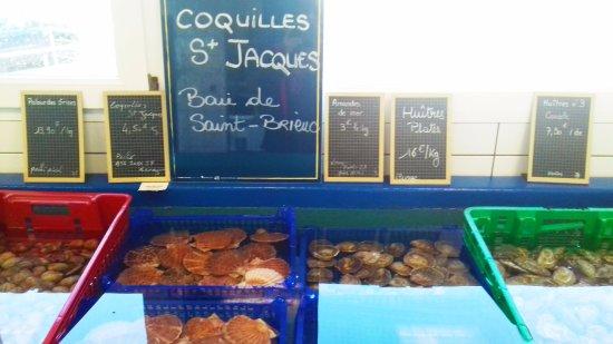 Planguenoual, France: Les coquilles St Jacques de la Baie
