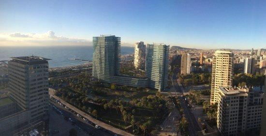 Hilton Diagonal Mar Barcelona: Amazing view!