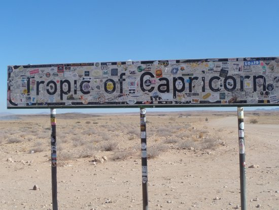 Solitaire, Namibia: Tropic of capricorn