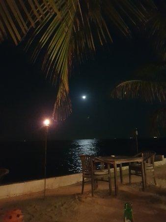 Scuba Lodge & Suites: Uitzicht op zee met maanlicht