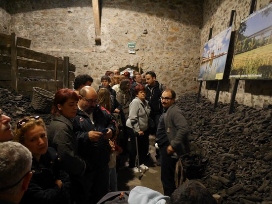 Muskiz, Spanien: Grupo de visitantes en la carbonera.