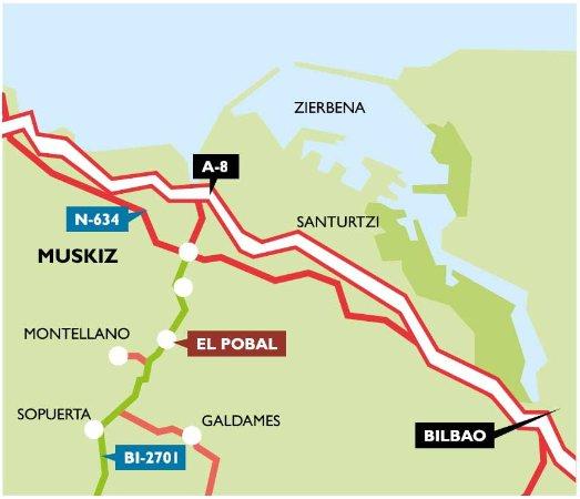 Muskiz, Spanien: Cómo llegar a la Ferrería de El Pobal (Plano general).