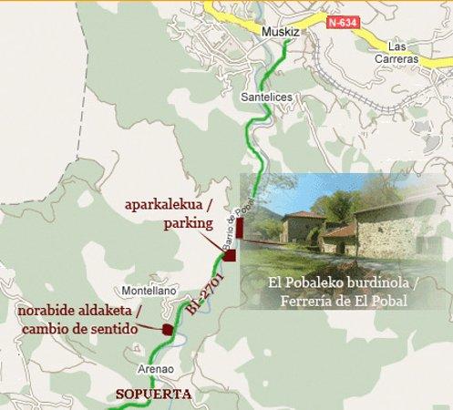 Muskiz, Spanien: Cómo llegar a la Ferrería de El Pobal (Carretera BI-2701).