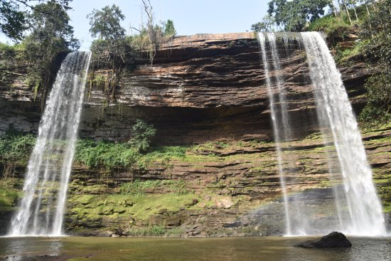 Eastern Region, Ghana: The Boti falls at the beginning of dry season