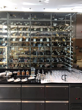 Grand Hotel River Park Bratislava: Bar with the wine collection