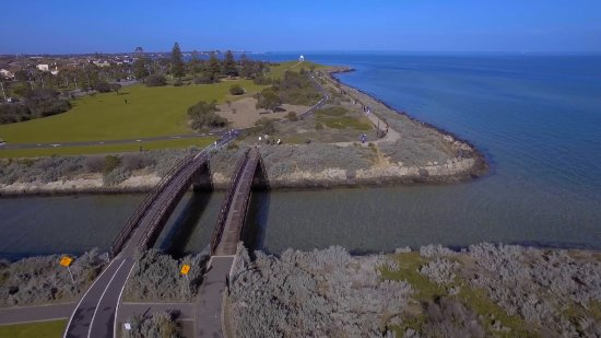 Port Phillip Bay drone view