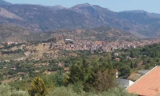 Castelbuono, Italy: The mighty mole of the castle, at one end of the ancient town