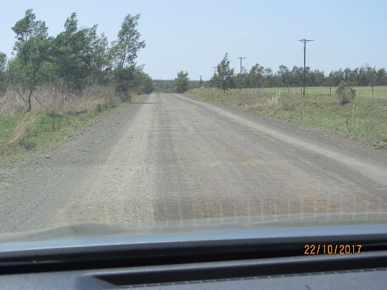 Rorke's Drift, Sydafrika: Dirt road to the Drift